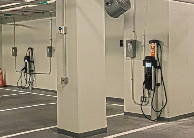 Chargepoint 4000 Series Charging Stations in JBG Smith's Underground Parking Garage