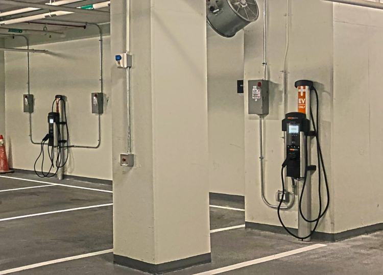 Clinton Electric Co. Projects - Parking Garage EV Install