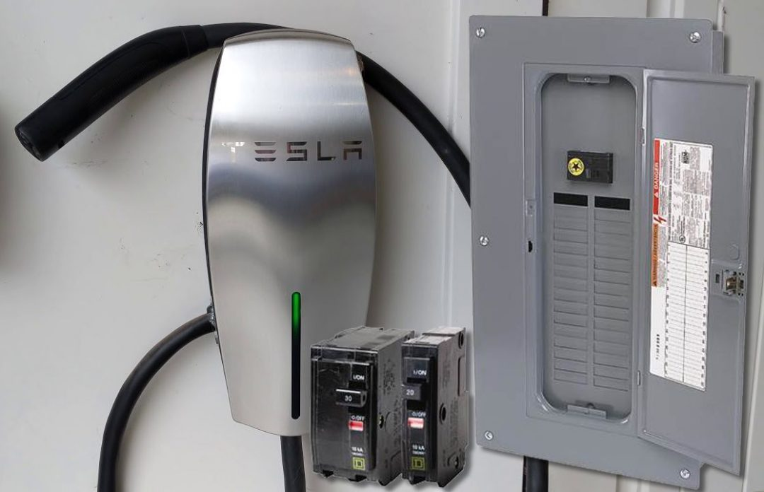 Clinton Electric Co. Projects - Tesla Home Charging Station Installation